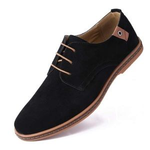 Mio Marino Classic Suede Derby Shoe black 9.5 mens